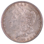 1878 7-8 Tail Feathers weak Morgan Dollar au58 for sale w512 obverse