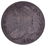 1821 Capped Bust Half Dollar vf30 for sale w743 obverse