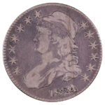 1824 Capped Bust Half Dollar f15 for sale w745 obverse