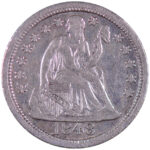 1848 Seated Dime vf30 for sale w628 obverse