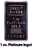 One Ounce Platinum Ingot
