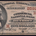 1882 Commercial National Bank of Detroit MI $5 Charter #2591 fine for sale 2591-6824 face