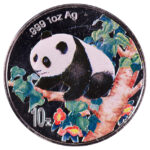 China People's Republic 10 Yuan Colorized Panda 1998 for sale F058 obverse 1