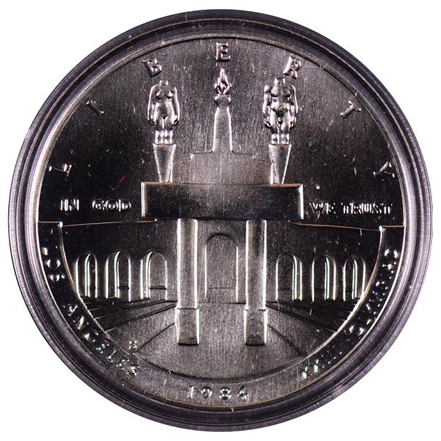 1984 Pds Olympic Commemorative Silver Dollar Set Ch Bu