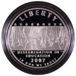 2007 P Little Rock High Desegregation Silver Dollar Ch. Proof for sale obverse