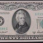 1950-B $20.00 Federal Reserve Note Chicago District FR# 2061-G Ch. CU for sale face