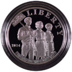 2014 P Civil Rights Act of 1964 Silver Dollar Ch. Proof for sale obverse