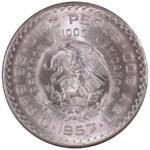Mexico 1957-Mo 10 Pesos Ch. BU for sale F143 obverse