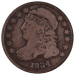 1834 Capped Bust Dime jr-5 fine for sale w1175 obverse