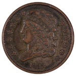1832 Classic Head Half Cent C-3 vf35 for sale w46 obverse