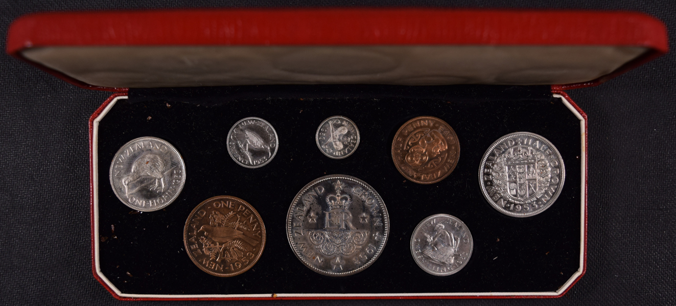New Zealand 1953 Proof Set Liberty Coin