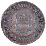 Mexico_Philip_V_1700-1788_Real_pillar_Style_1735-Mo_fine_for_sale_F040_reverse