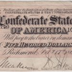 1864 $500 confederate states of america note T64 obverse