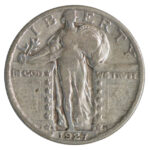1927 S Standing Liberty Quarter vg10 for sale w726 obv