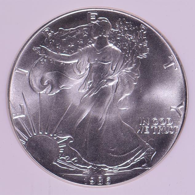 1986 Silver Eagle Dollar Ms 69 Ngc Liberty Coin
