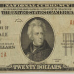 1929 $20 First National Bank of Hillsdale, MI Type 1 Charter #168 fine for sale a000541a face