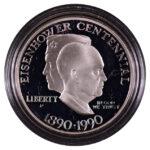 1990 P Eisenhower Centennial Silver Dollar Ch. Proof for sale obverse