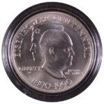 1990 W Eisenhower Centennial Silver Dollar Ch. BU for sale obverse