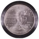 1991 D Korea Silver Dollar Ch. BU for sale obverse