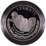 1991 S Mount Rushmore Silver Dollar Ch. Proof for sale obverse