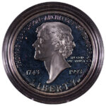 1993 S Thomas Jefferson 250th Anniversary Silver Dollar Ch. Proof for sale obverse