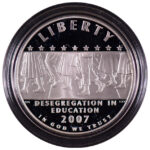 2007 P Little Rock High Desegregation Silver Dollar Ch. Proof for sale obverse