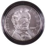 2009 P Abraham Lincoln Bicentennial Silver Dollar Ch. BU for sale obverse
