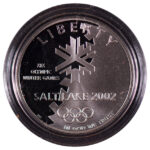2002 P Salt Lake City Winter Olympics Silver Dollar Ch. Proof for sale obverse