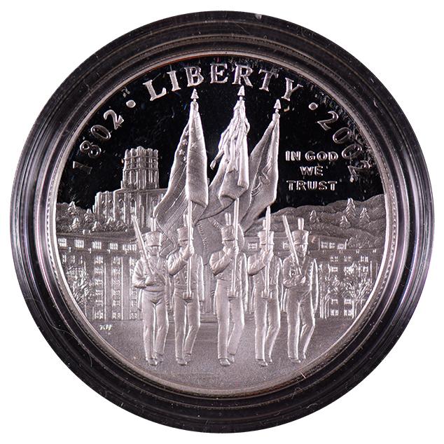 2002-W WEST POINT Bicentennial BU COMMEMORATIVE $1 Dollar w//Box /& COA *W2A