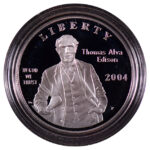 2004 P Thomas Alva Edison Silver Dollar Ch. Proof for sale obverse