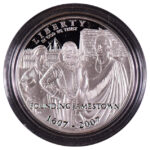 2007 P Jamestown 400th Anniversary Silver Dollar Proof for sale obverse