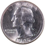 1940 S Washington Quarter ms63 for sale w1009 obverse