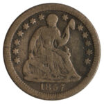 1857 O Liberty Seated Half Dime fine for sale w983 obv