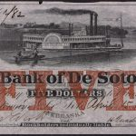 1859 $5.00 Bank of De Soto Nebraska April 15 Issue au for sale face