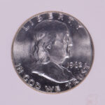 Close up 1962 D Franklin Half Dollar MS65W NGC for sale 120500-023 obverse