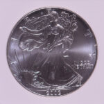 Close up 2002 Silver Eagle Dollar MS69 NGC for sale 1797882-033 obverse