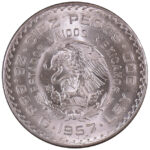 Mexico 1957-Mo 10 Pesos Ch. BU for sale F143 obverse