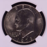 Close up 1978 D Eisenhower Dollar MS65 NGC for sale 3552741-098 obverse