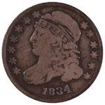 1834 Capped Bust Dime jr-5 fine for sale w1175 obverse