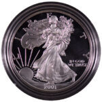 2001 W Proof Silver Eagle for sale obverse