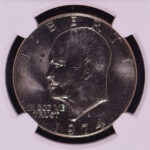 Close up 1974 D Eisenhower Dollar MS65 NGC for sale 3554025-243 obverse