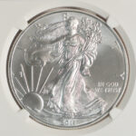 Close up 2011 Silver Eagle Dollar MS69 Early Releases NGC 3452858-016 for sale obverse