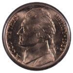 1939 D Jefferson Nickel ms63 for sale w1192 obverse