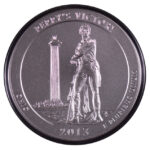 2013 P Perry's Victory (OH) America the Beatutiful 5 ounce silver quarter burnished for sale reverse