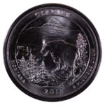 2011 Glacier (MT) America the Beautiful 5 ounce silver Quarter for sale reverse