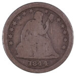 1844 O Liberty Seated Quarter good for sale w1258 obverse