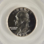 Close up 1955 Washington Quarter PR67 PCGS 5987.647-2811410 for sale obverse