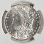 Close up 1890 O Morgan Dollar MS63 NGC 4868122-007 for sale obverse