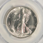 Close up 1943 S Walking Liberty Half Dollar MS65 PCGS 6620.65-36243075 for sale obverse