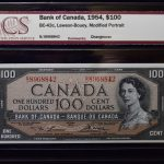 Canada 1954 Bank of Canada 100 Dollars Lawson-Bouey CU62 BCS for sale face